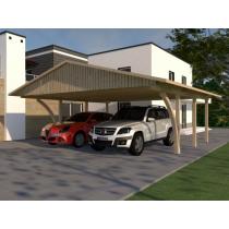 Prikker Carport Satteldach KVH 600 x 600cm