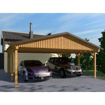 Prikker Carport Satteldach KDI 700 x 700cm