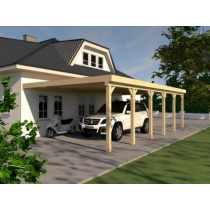 Prikker Carport Anlehn KVH 600 x 900cm