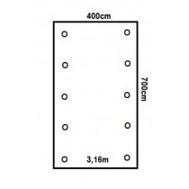 Prikker Carport Satteldach 400x700cm