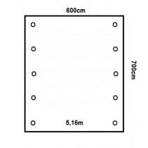 Prikker Carport Satteldach 600x700cm