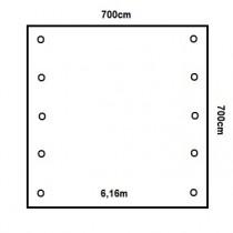 Prikker Carport Satteldach 700x700cm