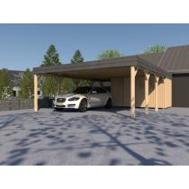 Prikker Carport Walmblende BSH 700 x 800cm