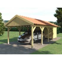 Prikker Carport Satteldach KDI 350 x 800cm